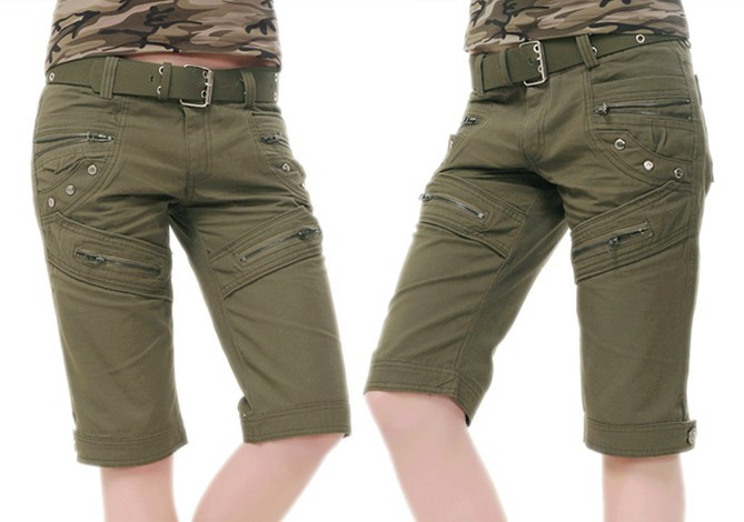 Womens redhead cargo shorts happens. Let's