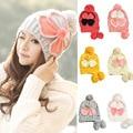 Женщины Теплая Зима Бабочка Крючком Промашка Hat Earflap Трикотажные Открытый Лыж Cap HATBD0058