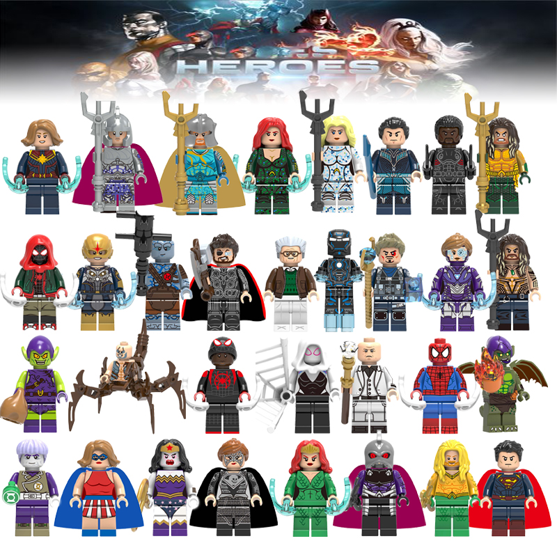Marvel Superheros Legoelys Batman Spiderman Banana Man Buzz Lightyear Building Block Figures Toy For Children Brick