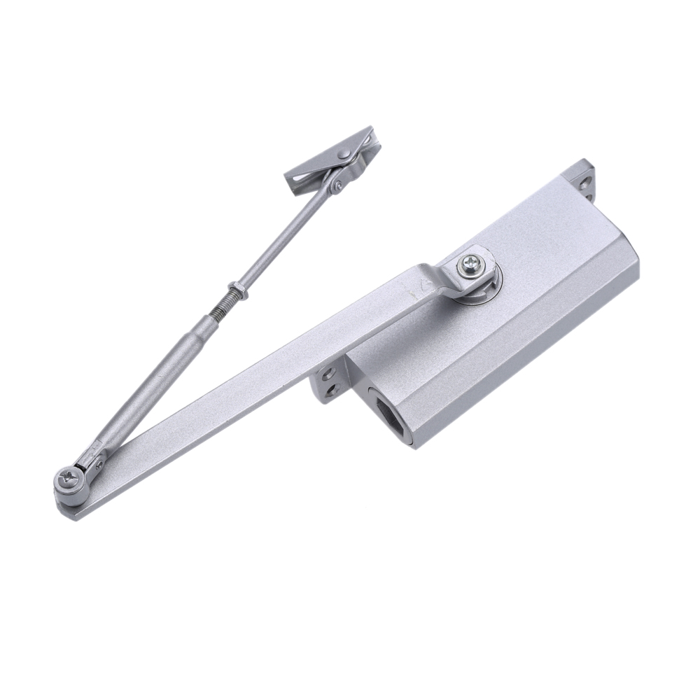 aluminum alloy automatic hydraulic 35kg door closer commercial residential door closing devices with parallel bracket