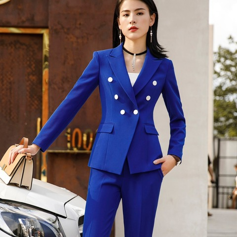 Women Suits Female Pant Suits Office Lady Formal Business Set Uniform Designs Style Work Wear Vest Blazer and Pant 3 Pieces Set Islamabad