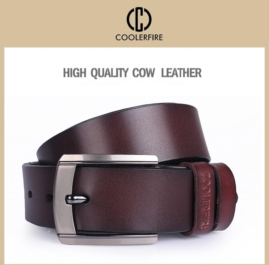 Fashion Men Luxury Designer High Quality Genuine Strap Cow Skin Leather Belts