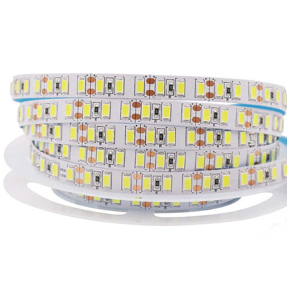 5 M 300 LED Strip 5630 5730 DC12V 60 LED/M 120LED/M Tahan Air Fiexble Lampu LED Pita tape String Dekorasi Rumah Lampu