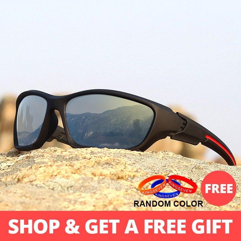 d5c857b7ed KINGSEVEN de moda gafas de sol polarizadas de los hombres de la marca de  lujo Vintage