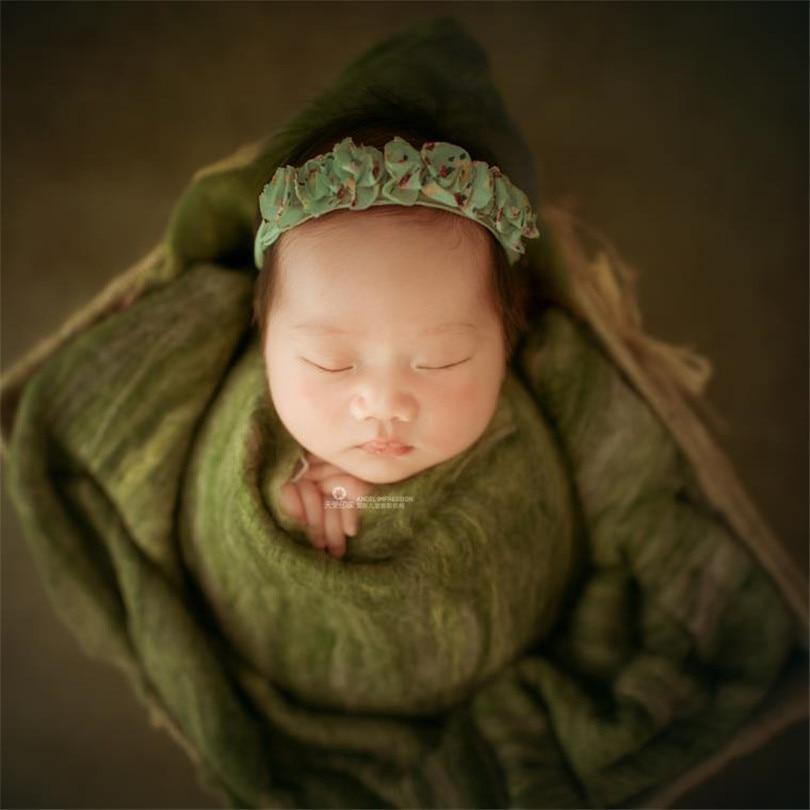 Wool Baby blanket backdrop Newborn baby soft swaddle blanket Baby Photography props Wooden basket stuffer filler photo props