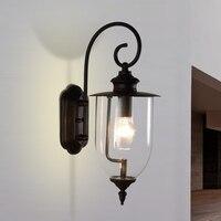 Открытый творческий стекло Настенные светильники проходу коридор водонепроницаемый Бра Настенные светильники садовые терраса лампа для в