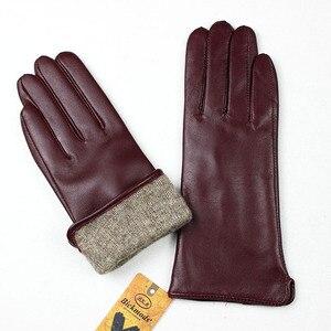 Image 4 - Прямые перчатки женские из овчины с шерстяной подкладкой