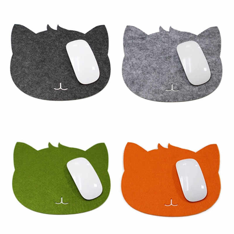 Grosir Mouse Pad Panas Cat Bentuk Anti-Slip Laptop PC Mouse Pad Mat Mousepad Optical Laser Mouse Promosi 2018 Baru