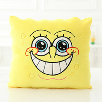 1pcs 34 34cm Cartoon Sponge Baby Bob Plush Toys Soft Spongebob Pillow Cushion Four Models Can