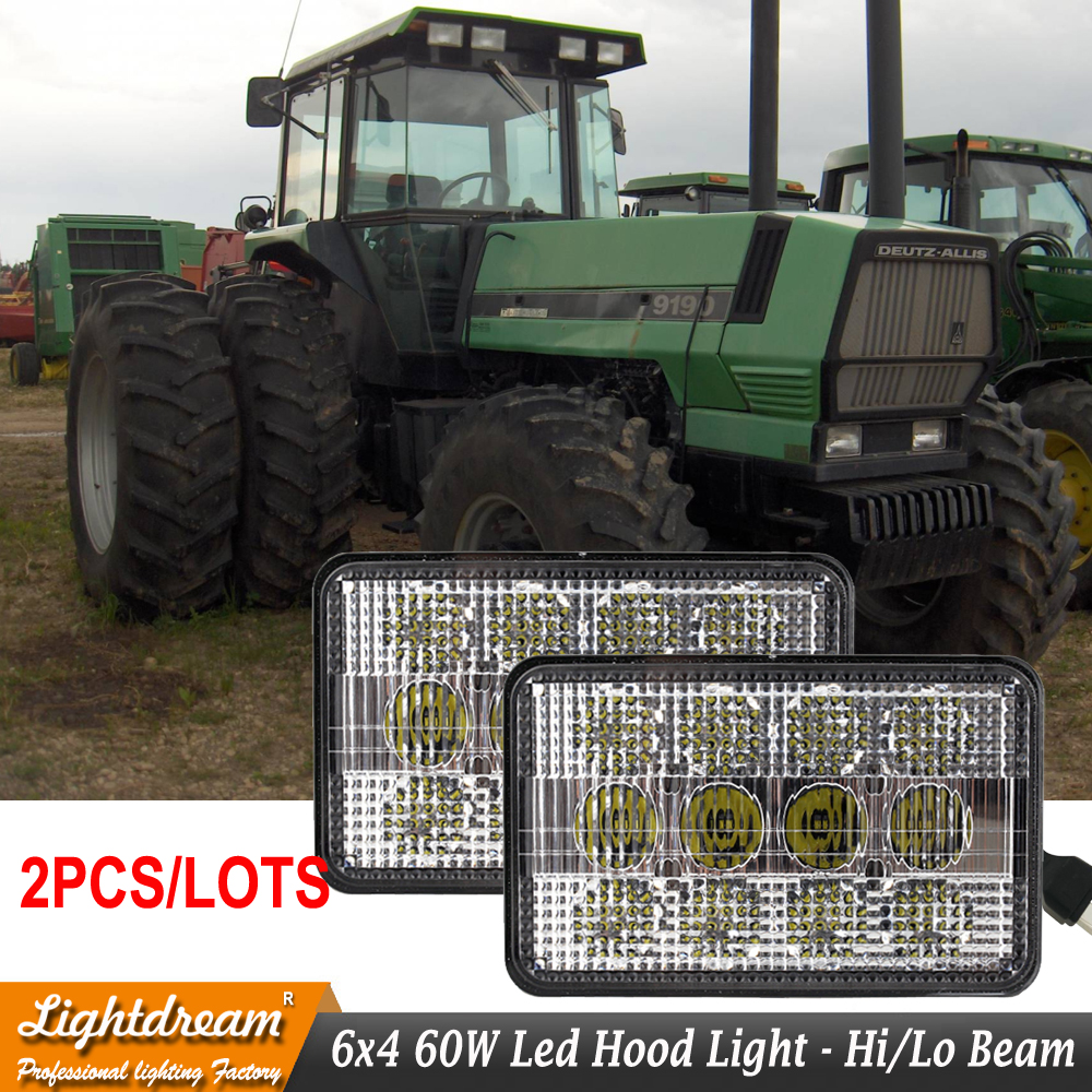 Replaces Oem Part Numbers Agco 30 3534510 72162190 Halogen Lamps 12v Allis Wiring Diagram 24v Ip67 3500lm 60w 6x4 Led Tractor Lights X 2pcs Free Ship In Light Bar Work