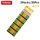 POSTHUMAN 20Pieces AG3 Alkaline Battery 1.55V G3 AG3 LR41 LR736 V3GA SR41 192 392 Button Cell Coin Batteries For Watches Toys