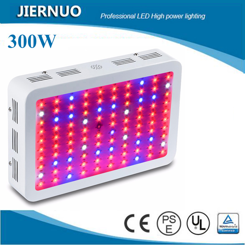 JIERNUO 300W Full Spectrum LED Grow light Panel Red/Blue/White/UV/IR 10Bands For Flower Plants Vegetative and indoor plants new 8 band 50w 100w 50 2w grow light led chip full spectrum led red blue uv ir white for indoor plant seeding growing flower