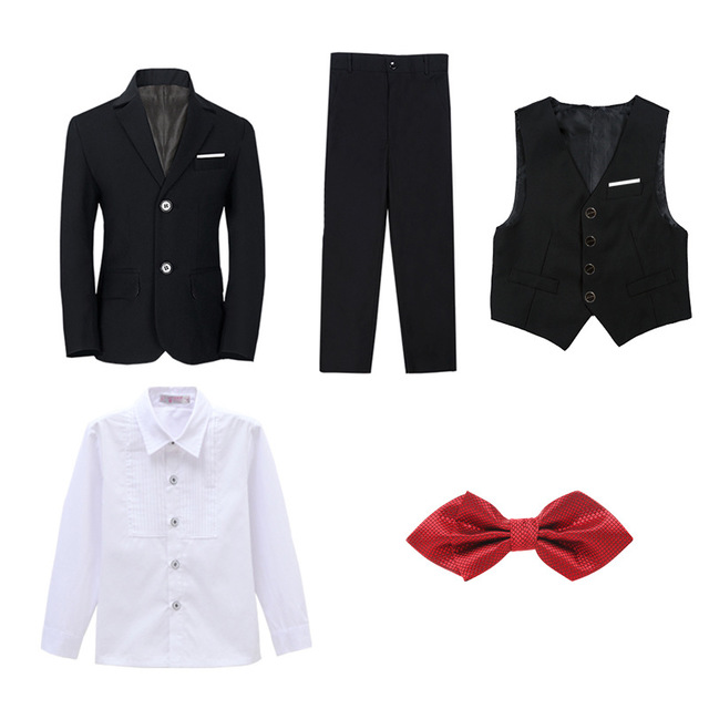 Boys Suits For Weddings Kids Blazer Suit For Boy Costume Enfant Garcon Mariage Jogging Garcon Blazer Boys British styleTuxedo L2 4