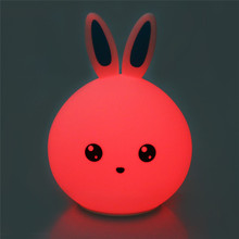 Lovely Rabbit Shaped Rechargeable Silicone LED Nightlight