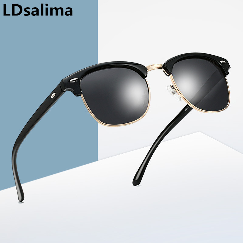 LDsalima Vintage Gold Sunglasses Men Square Metal Frame Silver Brown Black Small Sun Glasses Female Unisex Summer Style S3016