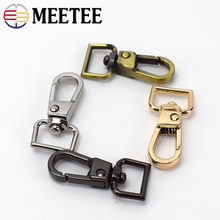 10pcs 11mm Bags Chain Strap Meetee Metal Clasps Lobster Dog Collar Keychain Swivel Trigger Clips Snap Hook DIY Part LeatherCraft