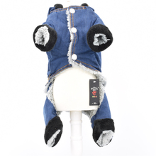 Denim Fabric Dog Jumpsuits