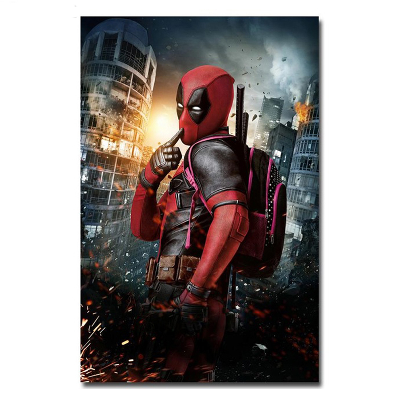 Stickers pictures by numbers diamond Embroidery diamond painting Deadpool Wade Wilson diamond mosaic Square Drill Resin ZP-696(China)