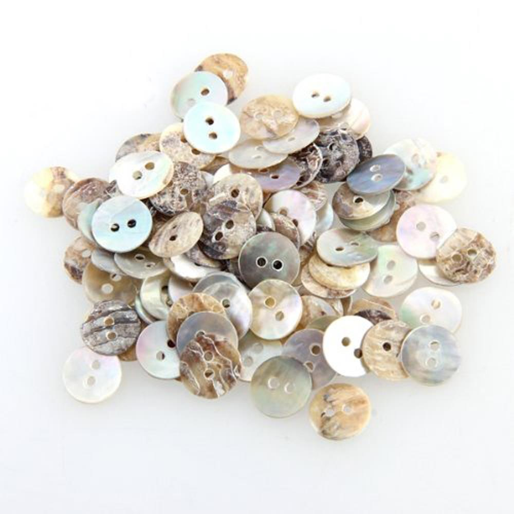 Hot sale in stock 100 Mother of Pearl MOP Round Shell Sewing Buttons 8mm HOT