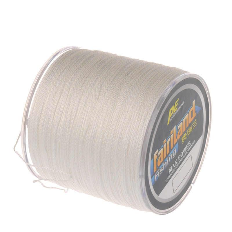 Línea de pesca trenzada de 500 m, 4 tejidos, línea trenzada de PE, cero elasticidad, 7 colores 0,4 #, 0,6 #, 0,8 #, 1 #-8 #, trenza flotante sensible disponible