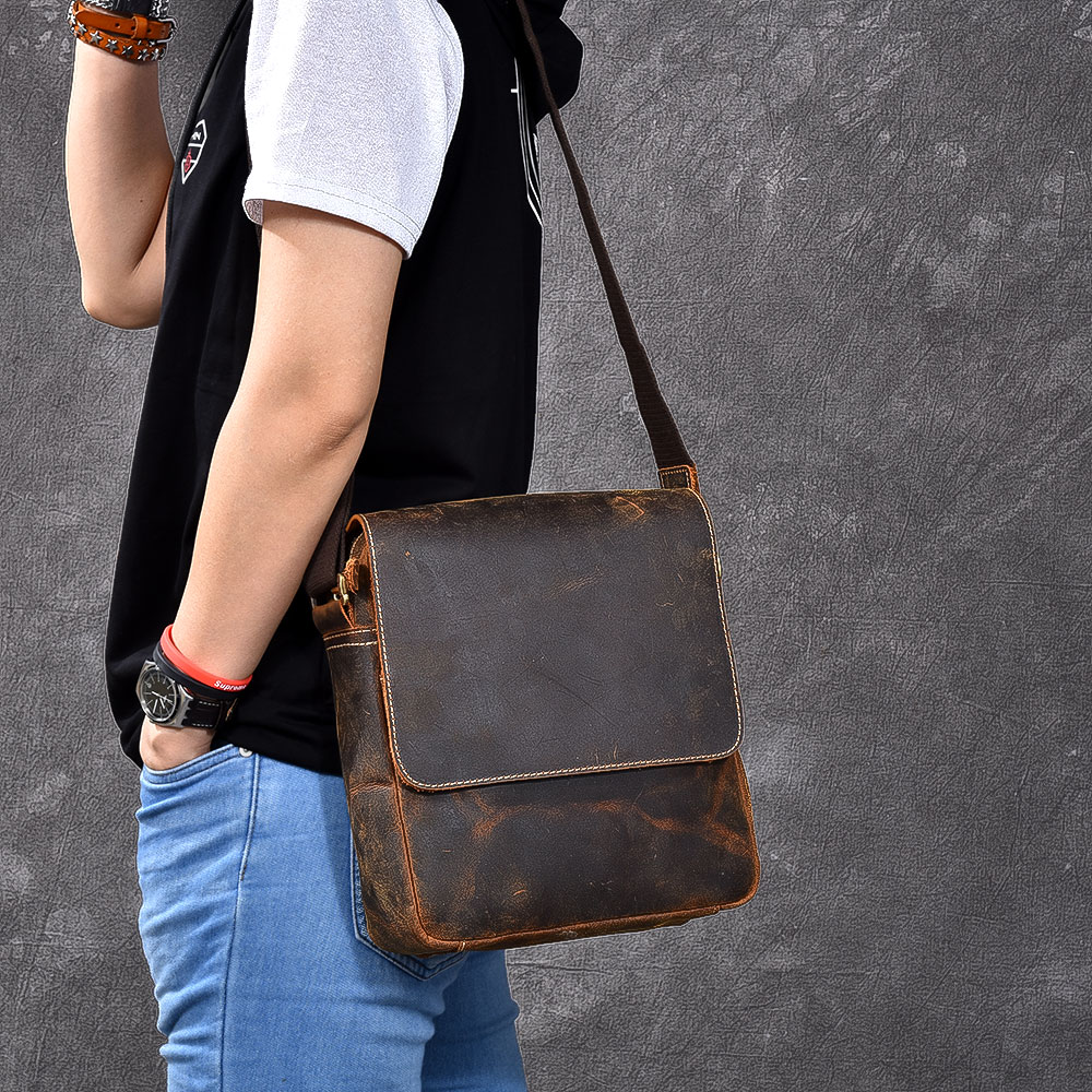 Messenger Bag Men Shoulder bag Genuine Leather Crossbody bags for Messenger men real Leather bags Handbags men s briefcase vintage shoulder cowhide leather bags crossbody bags real genuine leather men messenger bag