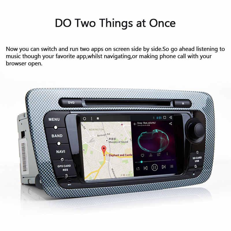 2 Din samochodowy odtwarzacz dvd odtwarzacz multimedialny dla seat ibiza 6J Cupra MK4 SportCoupe Ecomotive Radio 2009 2010 2011 2012 2013 nawigacja GPS