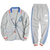 2pcs Boys Clothes Set Kids Schoo lUniform Outfits Jacets Pants Teens Sports Meeting Games Tracksuit Children Jogging Suit 4 12Y