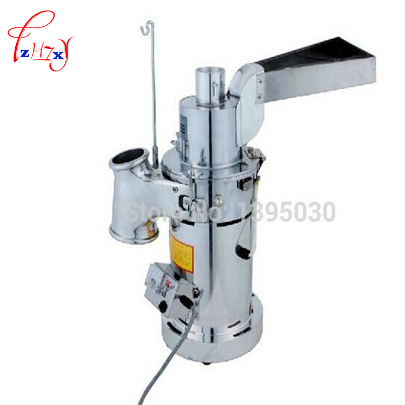 Electric Table-type Continuous Feeding Herb Hammer Grinder Pulverizer / herbs grinding machine 20kg/hour DF-20