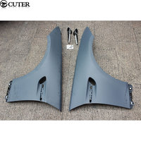 E92 M3 style PP Unpainted Grey Primer Auto Car Wheel Arch Side Fender Flare For BMW E92 M3 Only 08 12