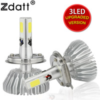 Zdatt 3 Side Lighting H4 Led Bulb 60W 6600Lm Headlights H7 H8 H9 H11 9005 HB3