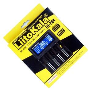 Image 2 - 1 sztuk LiitoKala lii PD4 LCD 3.7V 18650 21700 ładowarka + 4 sztuk 3.7V 18650 3400mAh INR18650 34B li ion akumulatory