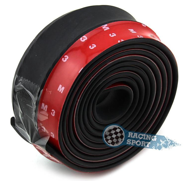 TPVC Car Lip Skirt Protector 250cm Length 6.5cm Width Car Front Lip Bumper Car Rubber Strip for Universal Car
