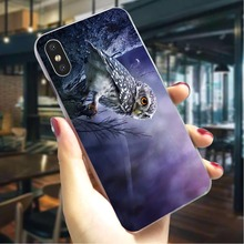 Owl Hard Cover for iPhone XR Colorful Phone Case for iPhone 7 Plus 8 8 Plus X Xs Xs Max Back Cases стоимость