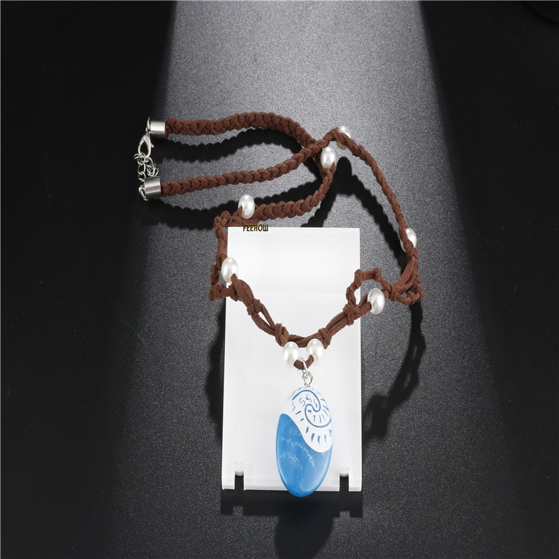 Novelty & Special Use Intelligent Halloween Cosplay Moana Moana With The Money Chain Ocean Romance Anime Necklace Adult Children Pendants Spot Wholesale Smoothing Circulation And Stopping Pains