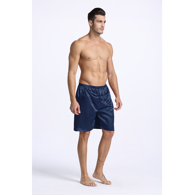 aba164787d Herrenmode Nachtwäsche 2019 Männer Nacht Silk Satin Robe Pyjamas Shorts  Schlaf Lounge kurze Hosen