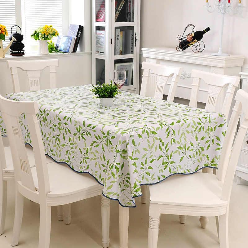 Eenvoudige Groene Stijl 106*152cm-152*152 cm PVC Tafelkleed Bruiloft Banket Tafelkleed Koffie Thee Tafel Dekken nest Tafelkleden