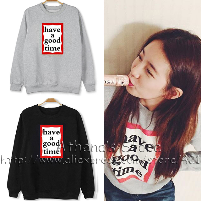 US $34 99 |2016 Kpop clothing MISS A Suzy Hoodie South Korean Star Miss A  Touch my body hoodies men women HAVE A GOOD TIME fans pullover-in Hoodies &