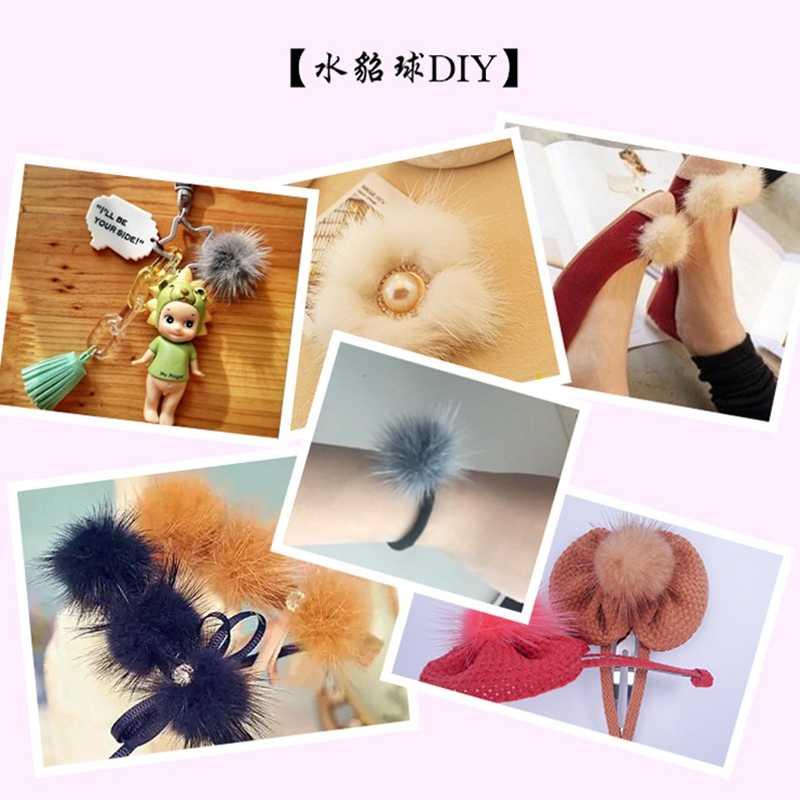 10 pc 3 ซม. Diy Pompon เลียนแบบ Mink Fur ลูกบอล Pompoms สำหรับแหวนพวงกุญแจรองเท้าหมวก Fluffy Pom Pom Diy อุปกรณ์เสริมหัตถกรรมวัสดุ