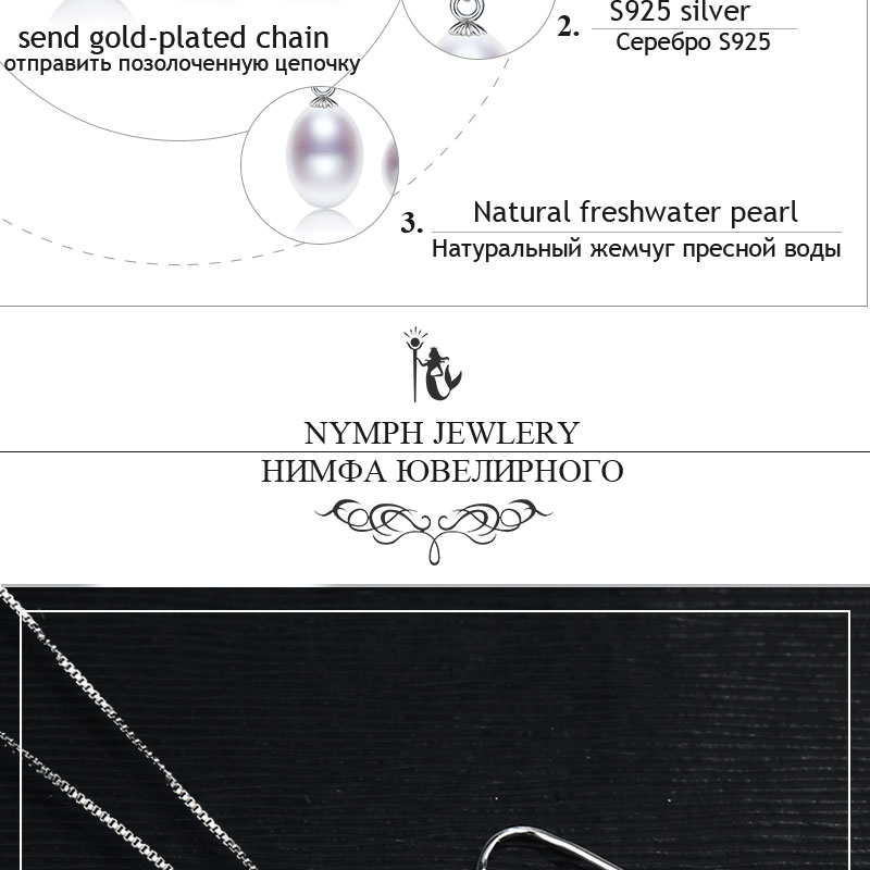 NYMPH pearl jewelry sets natural freshwater pearl pendant earrings s925 sterling silver party gift T219