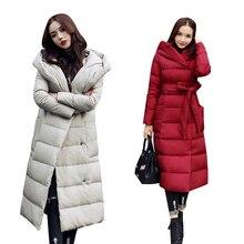 WMSWJH 2017 Winter jacket Women loose Hooded Parkas Jacket Woman Warm Parkas Coat Female Cotton Padded Down Snow Wear WS233