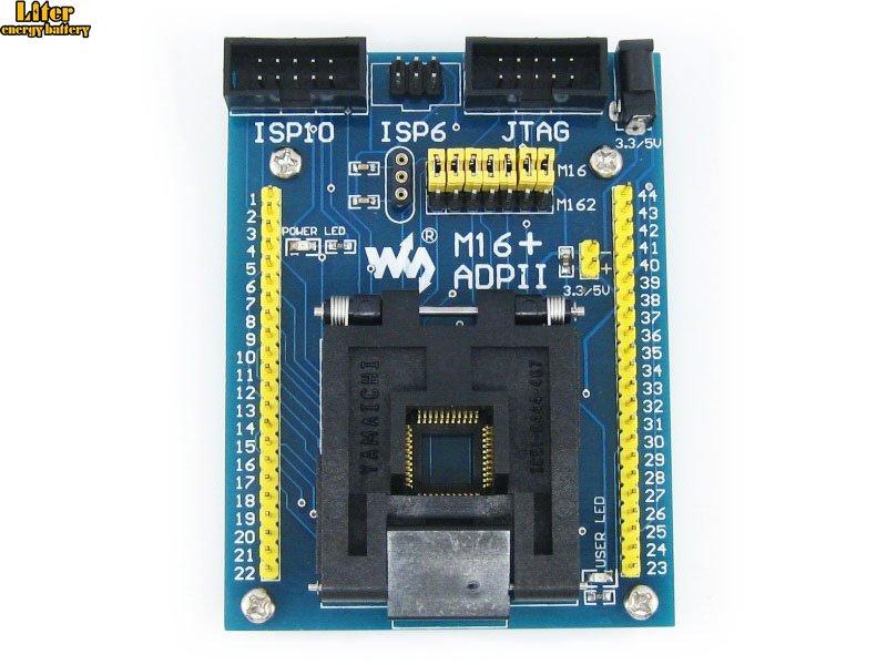 M16+ ADPII ATmega16 ATmega32 TQFP44 AVR Program Programming Adapter Test Socket