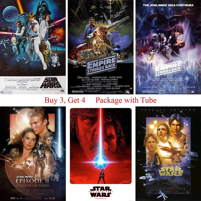 Star War Posters High Definition Wall Stickers Home Decoration for Livingroom Bedroom Home Art Brand