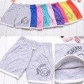 Nuevo 2016 New Kids verano de los muchachos elástica pantalones cortos de los niños suaves del algodón pantalones Casual pantalones de deporte pantalones cortos de las muchachas troncos n1