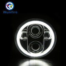 """LED Motorbike Auxiliary HeadLights 5.75"""" LED Daymaker Scooter Headlamp Assembly Motorcycle LED Headlight for Harley Motorcyle"""