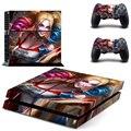 Harley Quinn Для PS4 Наклейку Кожи Наклейки + 2 Шт. Контроллер Кожи Консольные Наклейки Для Sony PS4 Защитную Крышку Игры Аксессуары