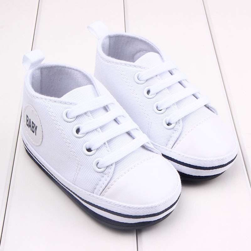 Newborn Shoes Canvas Baby Sneaker Sport Shoes for Girls Boys Baby Walker Infant ToddlerSoft Bottom Anti slip First Walkers Shoes in First Walkers from Mother Kids