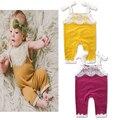 2017 Summer Kids girls ruffle Pantalones de la liga del Bebé de La Muchacha Del Ganchillo Del Cordón floral de La Moda de Una sola pieza de Los Bebés Del Mameluco de Los Niños ropa