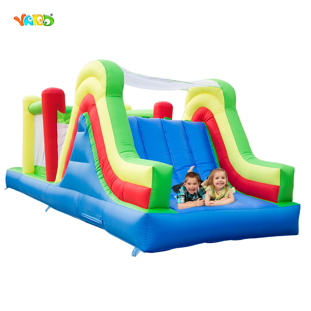 YARD Inflatable Bouncer 6 in 1 Bounce House Kids Playing Obstacle Course Slide Special Present for Kids yard residential inflatable bounce house combo slide bouncy with ball pool for kids amusement