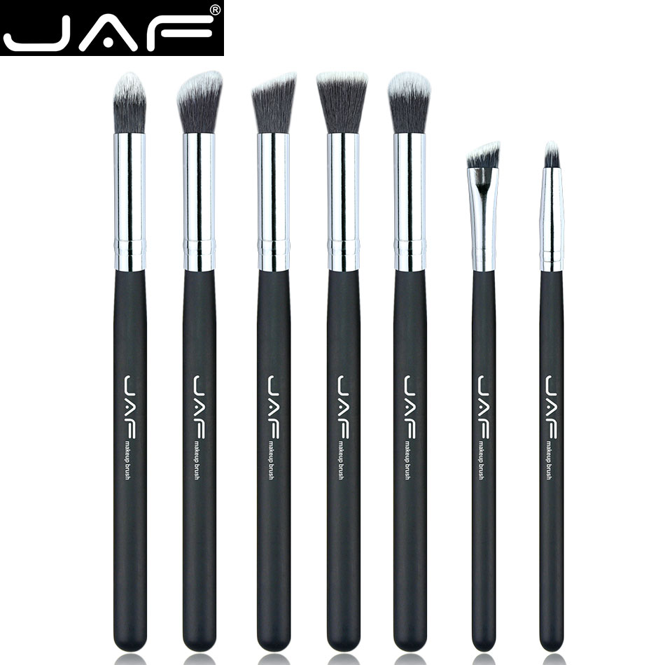 JAF Brand 7 Pcs/set Professional Portable Makeup Brushes Of Eye Blending Eyeshadow Smudge Shading Eyebrow Brushes JE07SSY-B