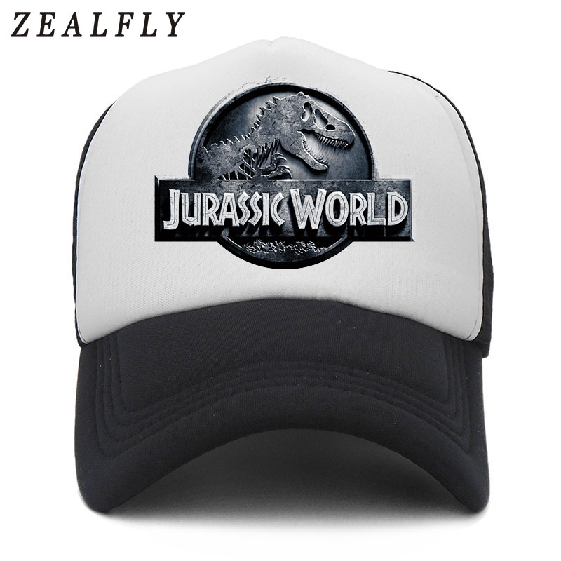 Jurassic World Park   Baseball     Caps   For Men Summer Breathable Mesh Jurassic Park Dinosaur Dad Hat Hip Hop Net Truck   Cap   Women Bone